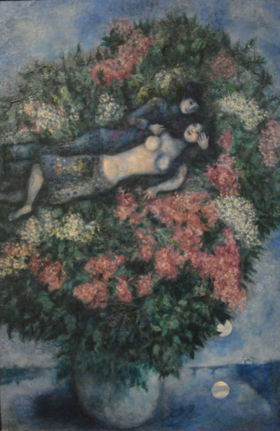Lovers Among Lilacs — Mark Chagall