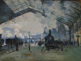 Arrival of the Normandy Train, Gare Saint-Lazare — Claude Monet