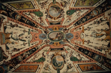 Art in the Uffizi Gallery in Florence