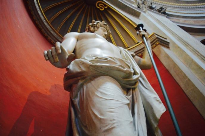 A statue inside the Vatican