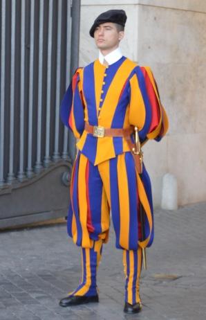 A guard in Vatican City