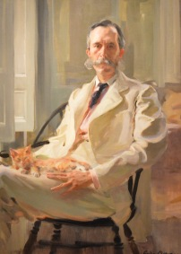 Man with Cat Cecilia Beaux
