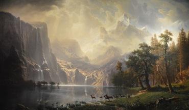 Along the Sierra Nevada, California — Albert Bierstadt