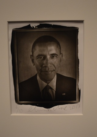 Photo of Barack Obama in National Portrait Gallery